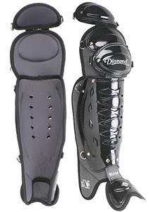 "Diamond 17"" Baseball Umpire Leg Guards DLG-iX3 UMP"