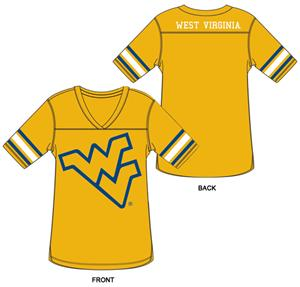 West Virginia Burnout Football Jersey Nightshirt