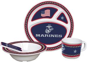 US Marine Corps Children's 5 Piece Dish Set
