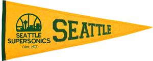 Winning Streak NBA Seattle Super Sonics Pennant