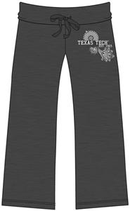Emerson Street Texas Tech Womens Heather Capri's