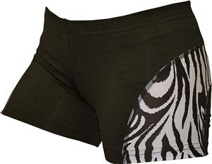 Gem Gear Cobra B&W Zebra Compression Shorts