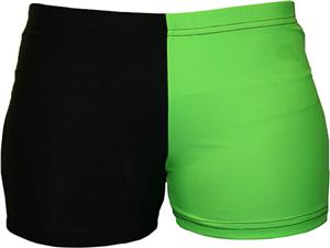 Gem Gear 4 Panel Neon Green Compression Shorts