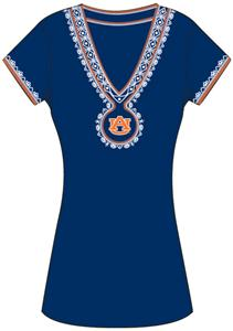 Emerson Street Auburn Tiger Womens Medallion Dress