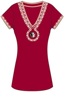 Emerson Street Florida St Womens Medallion Dress