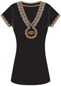 Emerson Street Oklahoma St Womens Medallion Dress