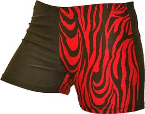 Gem Gear 4 Panel Red Zebra Compression Shorts