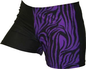 Gem Gear 4 Panel Purple Zebra Compression Shorts
