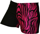 Gem Gear 4 Panel Pink Zebra Compression Shorts