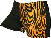 Gem Gear 4 Panel Gold Zebra Compression Shorts