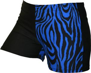 Gem Gear 4 Panel Royal Zebra Compression Shorts