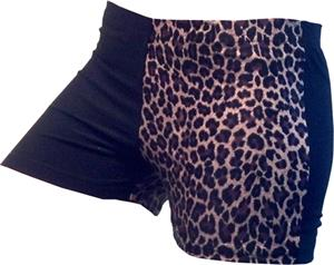 Gem Gear 4 Panel Brown Leopard Compression Shorts
