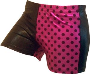 Gem Gear 4 Panel Metallic Pink Dots Shorts