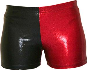Gem Gear 4 Panel Red Metallic Compression Short