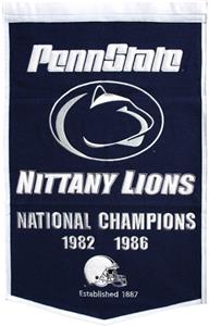 Winning Streak NCAA Penn State Dynasty Banner