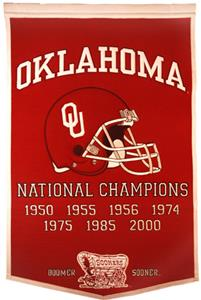 Winning Streak NCAA University of Oklahoma Banner