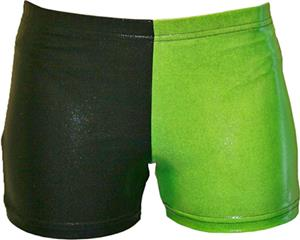 Gem Gear 4 Panel Neon Green Metallic Shorts