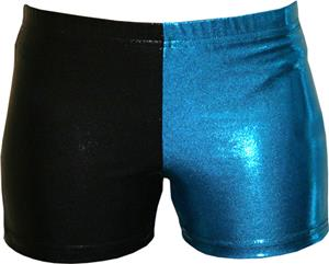 Gem Gear 4 Panel Turquoise Metallic Shorts