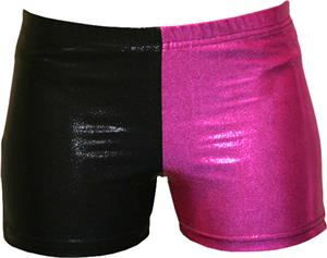 Gem Gear 4 Panel Pink Metallic Compression Shorts