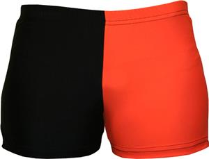 Gem Gear 4 Panel Orange Compression Shorts