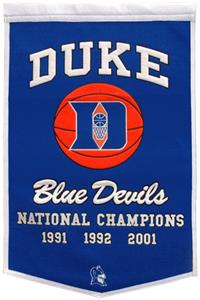 Winning Streak NCAA Duke Dynasty Banner