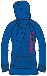 Kansas Jayhawks Womens Cozy Pullover Hoody