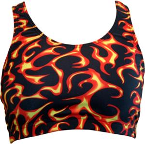 Gem Gear Red Flames Racer Back Sports Bra