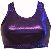 Gem Gear Purple Metallic Racer Back Sports Bra