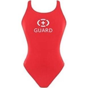 Adoretex Women Lifeguard Wide Strap Solid Swimsuit