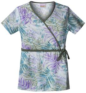 Skechers Women's Mock Wrap Scrub Top