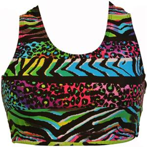 Gem Gear Wild Africa Metallic Racer Back Bra