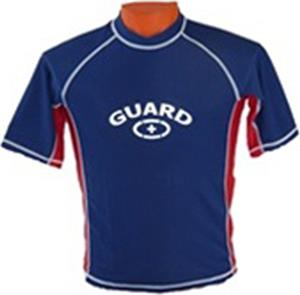 Adoretex Mens Short Sleeve Rash Guard with Logo