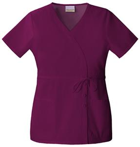 Skechers Women's Two Pocket Mock Wrap Scrub Top
