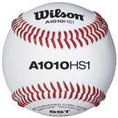 Wilson NFHS Raised Seam Baseballs Grade B Leather