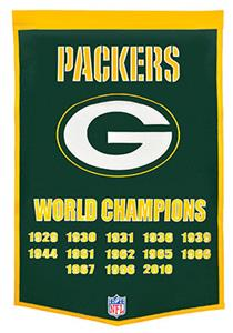 Winning Streak NFL Green Bay Packers Banner