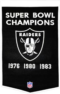 Winning Streak NFL Oakland Raiders Dynasty Banner