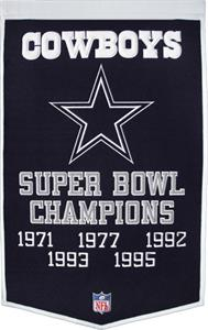 Winning Streak NFL Dallas Cowboys Dynasty Banner