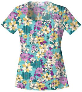 Skechers Women&#39;s Square Neck Scrub Top