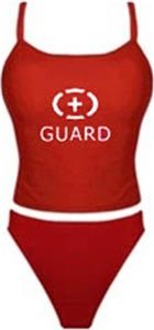 Adoretex Womens Lifeguard Solid Tankini Swimsuit