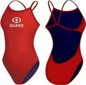 Adoretex Womens Lifeguard Open Back Swimsuit