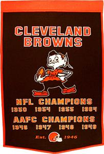 Winning Streak NFL Cleveland Browns Dynasty Banner