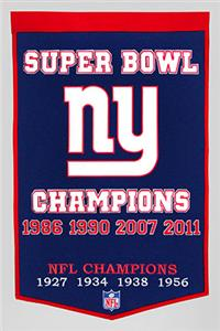 Winning Streak NFL New York Giants Dynasty Banner