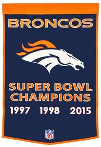Winning Streak NFL Denver Broncos Dynasty Banner