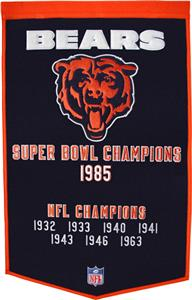 Winning Streak NFL Chicago Bears Dynasty Banner