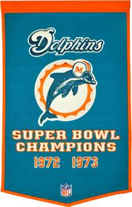 Winning Streak NFL Miami Dolphins Dynasty Banner