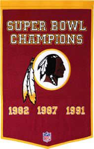 Winning Streak NFL Washington Redskins Banner