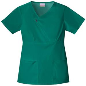Skechers Women's Zip Mock Wrap Scrub Top