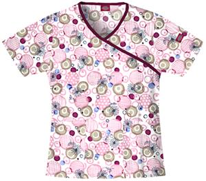 Dickies Women&#39;s EDS Print Mock Wrap Scrub Tops