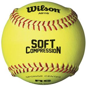 "Wilson 12"" Soft Compression Cloth Softballs 1 DZ"