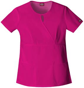 Dickies Women's EDS Keyhole Mock Wrap Scrub Tops